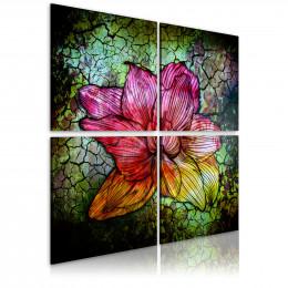 Tablou Floare pe sticla