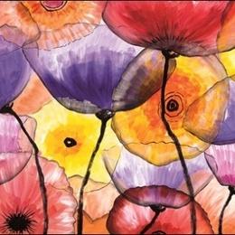 Tablou Flori de sticla colorate