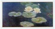 """Tablou Monet """"Nuferi"""", rama alba"""