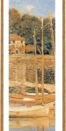 Tablou Monet Podul Argenteuil- fragment, rama aurie patinata