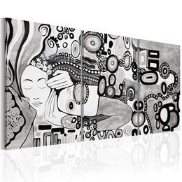 Tablou pictat manual - Silver Kiss