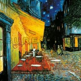 Tablou Terasa cafenelei inramat, canvas 70x90 cm