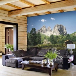 Fototapet peisaj cu munti Dolomitii