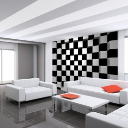 Fototapet 3D Cuburi albe si negre
