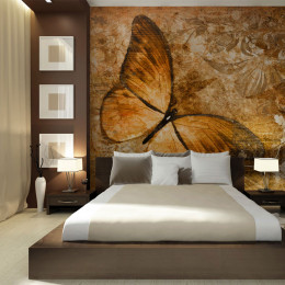 Fototapet - butterfly (sepia)