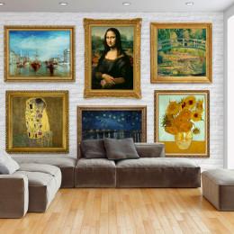 Fototapet Perete cu picturi celebre