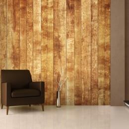 Fototapet Perete de lemn in stil scandinav