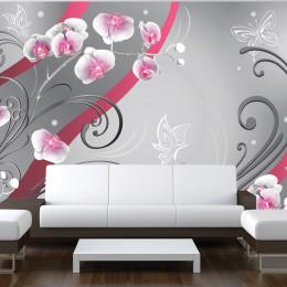 Fototapet - Pink orchids - variation
