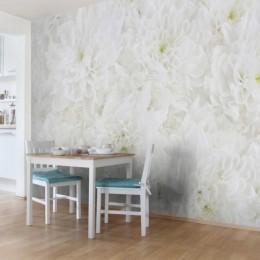 Fototapet vlies Mare de flori albe