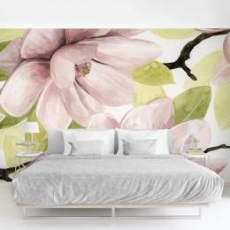 Fototapet vlies Pictura cu flori de magnolie