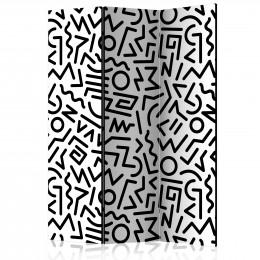 Paravan - Black and White Maze [Room Dividers]