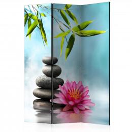 Paravan - Water Lily and Zen Stones [Room Dividers]