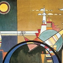 Poster Kandinsky La grande torre di Kiev inramat, 60x80 cm