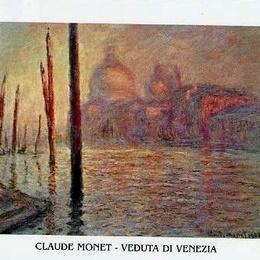 Poster Monet Veduta di Venezia 80x60 cm