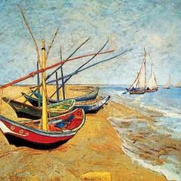 Poster Van Gogh Barci pe plaja