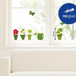 """Sticker de geam """"Ghivece verzi''"""