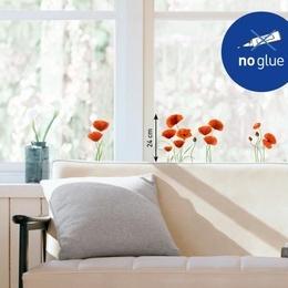 Sticker de geam ''Maci rosii''