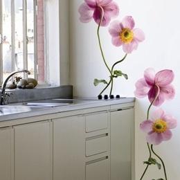 Sticker de perete floral ''Anemone mov''