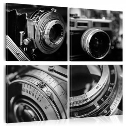 Tablou canvas Camera foto vintage, 4 piese