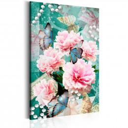 Tablou canvas Scris in flori