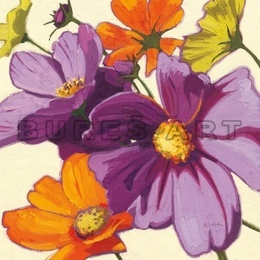 Tablou decorativ ''Flori colorate I'' inramat