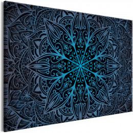 Tablou - Oriental Flowers (1 Part) Narrow Blue