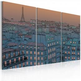 Tablou - Paris - the city goes to sleep
