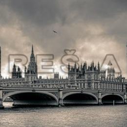 Tablou ''Priveliste din Londra'' inramat