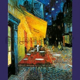 Tablou Van Gogh Terasa cafenelei inramat, 70x50 cm