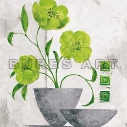 Tablou ''Vas cu flori luminoase I'' inramat