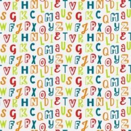 Tapet copii cu litere colorate