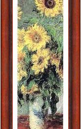 """Poster Monet """"Floarea soarelui"""" fragment -inramata"""