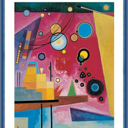"Poster Kandinsky ""Rosu intens"" inramat"