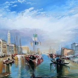 "Pictura ""Canal grande""-reproducere W.Turner"