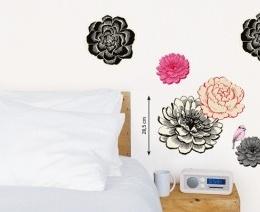 "Sticker decorativ ""Flori negre"""
