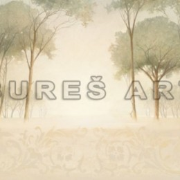 Tablou Palc de copaci in ceata inramat