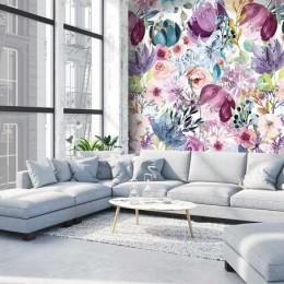 Fototapet Acuarela cu flori