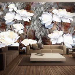 Fototapet 3D floral- Shy gestures