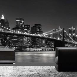 Fototapet alb- negru New York