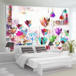 Fototapet - Colorful tulips