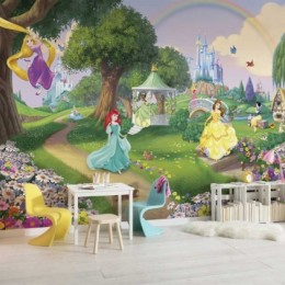 Fototapet copii Printesele Disney in gradina 368 x 254 cm