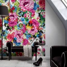 Fototapet floral Flori pop romantice