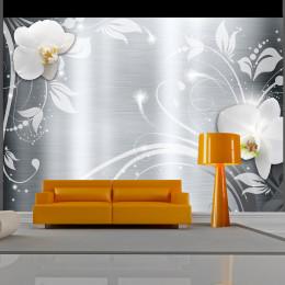 Fototapet - Orchids on steel