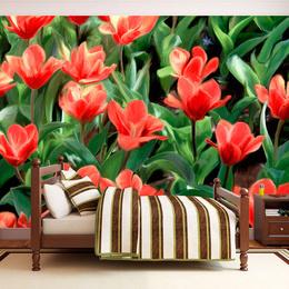 Fototapet - Painted flowers