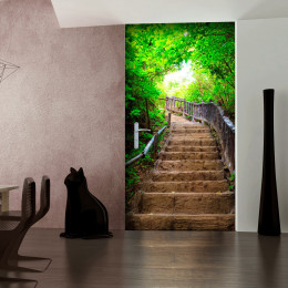 Fototapet pentru ușă - Photo wallpaper – Stairs from nature I