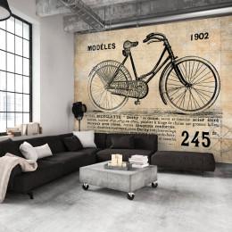 Fototapet vintage Ilustratie cu bicicleta 1902