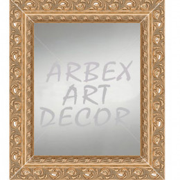 Oglinda cu rama lata patinata, stil rococo, argintie sau aurie