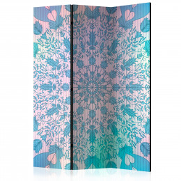 Paravan - Girly Mandala (Blue) [Room Dividers]