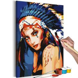 Pictura pe numere - Femeie Nativ Americana