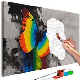 Pictura pe numere - Fluture Multicolor